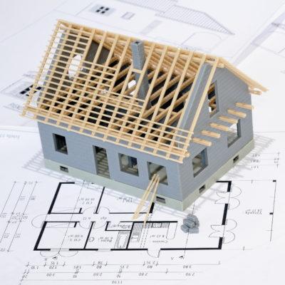 Villa en construction.